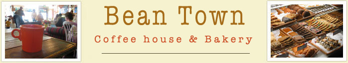 Bean Town Coffee House and Bakery. 45 North Baldwin Avenue, Sierra Madre. Telephone 626-355-1596